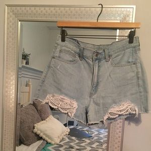 AE High Waisted Mom Jean Shorts
